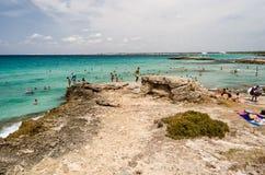 Punta della Suina's beach near Gallipoli in Salento. Apulia. Ita Royalty Free Stock Image