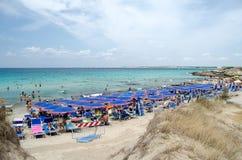 Punta della Suina's beach near Gallipoli in Salento. Apulia. Ita Stock Image