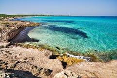 Punta dellaSuina strand Arkivfoton