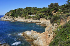 Punta den Rosaris in Lloret de Mar, Spain Stock Images
