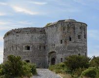 Punta di Arza ist ein Austro-ungarisches Fort am Kap von Miriste ADRIATISCHES MEER Lizenzfreie Stockfotos