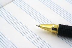 Punta di penna di ballpoint e della doga Immagini Stock