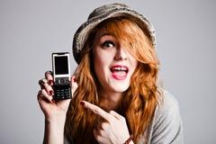 Punta en el teléfono celular Fotografía de archivo