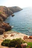 Punta Galera, Ibiza, Espagne Photographie stock libre de droits