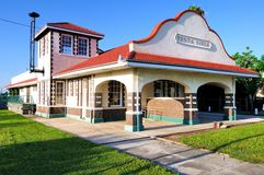 Punta Gorda Florida Train Depot. The old Train Depot in Punta Gorda Florida USA now serves as a museum and antique and collectible gallery. It was built in the royalty free stock photography