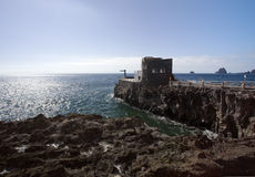 Punta Grande, El Hierro, smallest Hotel worldwide Royalty Free Stock Images