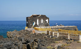 Punta Grande, El Hierro, the smallest Hotel worldwide. Hotel has only four rooms. Canary island, Spain Stock Photography