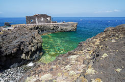 Punta Grande, El Hierro, the smallest Hotel worldwide. Hotel has only four rooms. Canary island, Spain Stock Photos