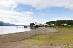 Punta helada del estrecho, Alaska Foto de archivo libre de regalías