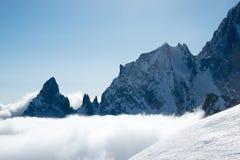Punta Helbronner - Berg Blanc Stockfotos