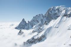 Punta Helbronner - montagem Blanc Fotos de Stock Royalty Free