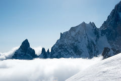 Punta Helbronner - montagem Blanc Fotos de Stock