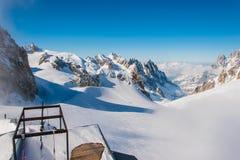 Punta Helbronner - montering Blanc Arkivfoton