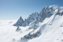 Punta Helbronner - Mount Blanc. View of the Mount Blanc Royalty Free Stock Photos