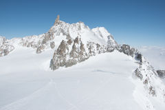 Punta Helbronner - Mount Blanc. View of the Giant Teeth Royalty Free Stock Photos
