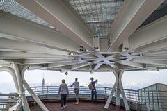 Punta Helbronner Skyway, Monte Bianco terminal, Courmayeur obraz stock