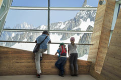 Punta Helbronner of Skyway,Monte Bianco terminal ,Courmayeur Stock Photography