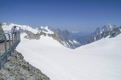 Punta Helbronner von Skyway, Monte Bianco-Anschluss, Courmayeur stockbild