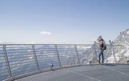 Punta Helbronner von Skyway, Monte Bianco-Anschluss, Courmayeur Lizenzfreie Stockbilder