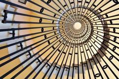 Punta helicoidal de las escaleras Imágenes de archivo libres de regalías