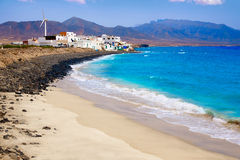 Punta Jandia Fuerteventura and Puerto de la Cruz Royalty Free Stock Photography