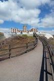 Punta La Entellada, Punta Lantailla fyr på östliga Fuerteventura royaltyfri fotografi