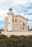 Punta Marsala Lighthouse, Favignana Royalty Free Stock Image