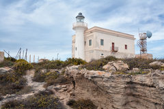 Punta Marsala Lighthouse, Favignana Royalty Free Stock Photography