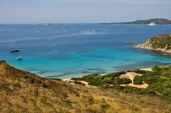 Punta Molentis, Villasimius,在撒丁岛,意大利 库存照片