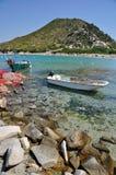 Punta Molentis, Villasimius, Sardaigne, Italie Photos stock