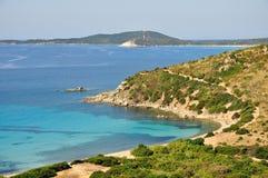 Punta Molentis, Villasimius, in Sardinia, Italy Royalty Free Stock Images