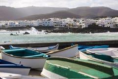 Punta Mujeres, Lanzarote. Canary Islands Stock Image