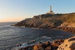 Punta Nariga fyr Arkivbilder