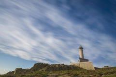 Punta Nariga lighthouse. Lighthouse of Punta Nariga Malpica, La Coruna - Spain Stock Images