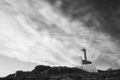 Punta Nariga lighthouse. Lighthouse of Punta Nariga Malpica, La Coruna - Spain Royalty Free Stock Image