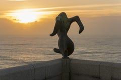 Punta Nariga lighthouse. Monument in lighthouse of Punta Nariga Malpica, La Coruna - Spain Stock Photography