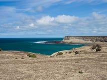 Punta Ninfas, Patagonia Argentina Arkivfoto