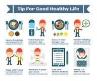 Punta per vita di buona salute royalty illustrazione gratis