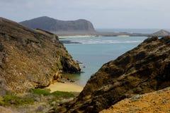 Punta Pitt in Isla San Christobal, de Galapagos Stock Afbeeldingen