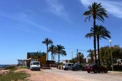 Punta prima jest południowym częścią popularny kurort Torrevieja obraz royalty free