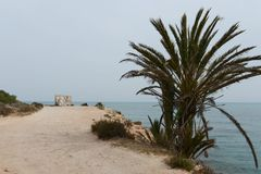 Punta prima is the most southern part of the popular resort of Torrevieja Stock Image
