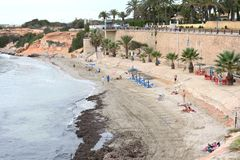 Punta prima is the most southern part of the popular resort of Torrevieja Royalty Free Stock Image