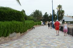 Punta prima is the most southern part of the popular resort of Torrevieja Stock Photography