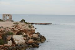 Punta prima is the most southern part of the popular resort of Torrevieja Stock Photo