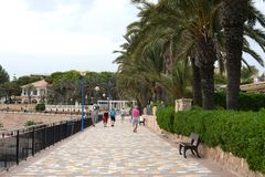 Punta prima is the most southern part of the popular resort of Torrevieja Royalty Free Stock Photos