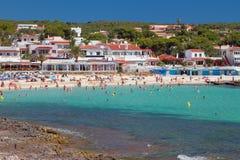 Punta Prima plaża Minorca, Hiszpania obraz royalty free