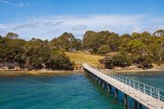 Punta Puer en el Port Arthur, Tasmania, Australia Fotografía de archivo