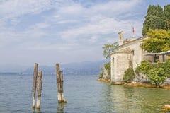 Punta SAN Vigilio στη λίμνη Garda Στοκ εικόνα με δικαίωμα ελεύθερης χρήσης