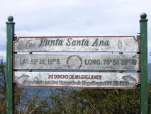 Punta Santa Ana Strait av Magellan royaltyfri fotografi