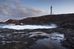 Punta Sardina Lighthouse on Gran Canaria Stock Images